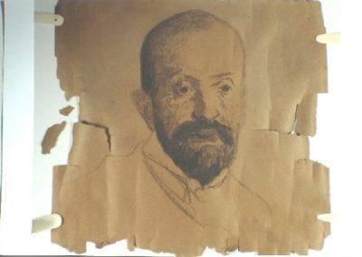 Rysunek Malczewskiego przed konserwacją