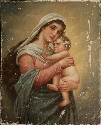 Madonna z Dzieciątkiem przed konserwacją